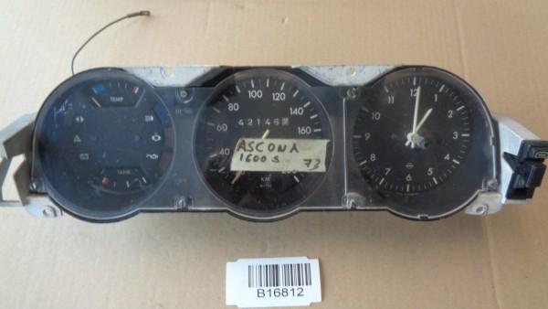 Opel Manta A Ascona Tachometer Kombiinstrument Tacho W=743 200km/h mit Uhr