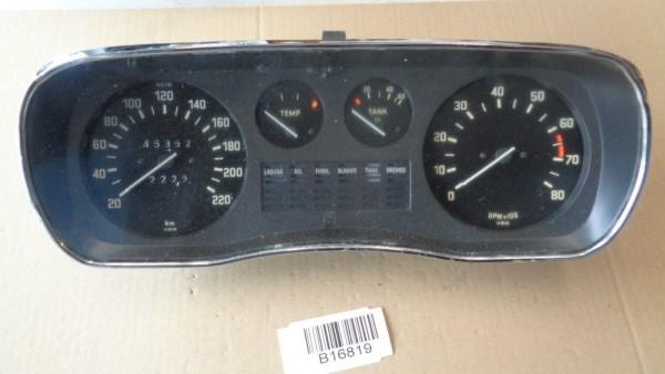 BMW E3 2500 2800 Tacho Kombiinstrument Tachometer 220km/h mit Drehzahlmesser