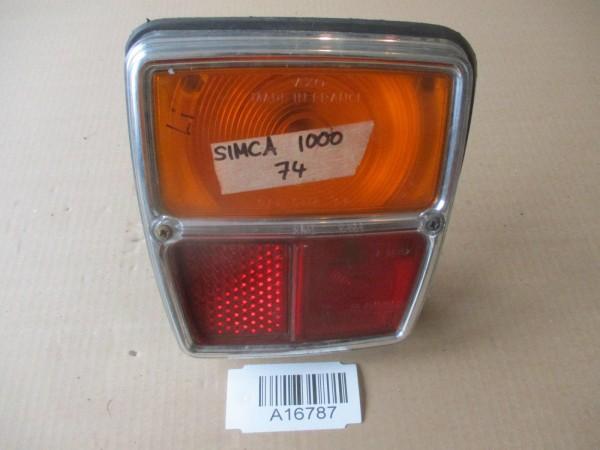 Simca 1000 Bj.74 Rückleuchte Rücklicht Glas Gehäuse Links