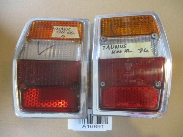 Rückleuchte Rücklicht Glas Gehäuse Links Rechts SET Ford Taunus Knudsen MK1