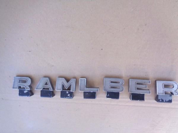 AMC Rambler Emblem Logo Schriftzug Letters Buchstaben einzeln