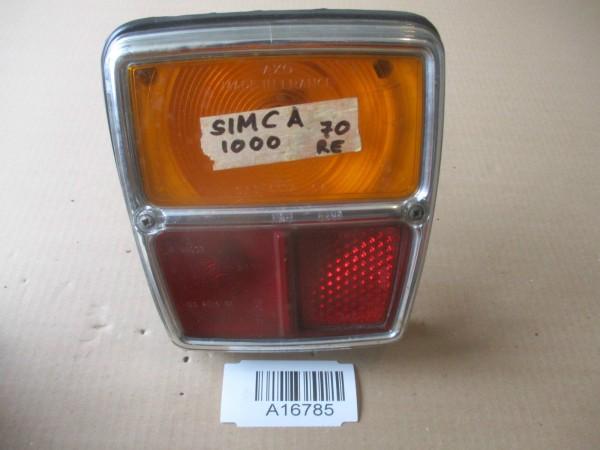 Simca 1000 Bj.70 Rückleuchte Rücklicht Glas Gehäuse Rechts