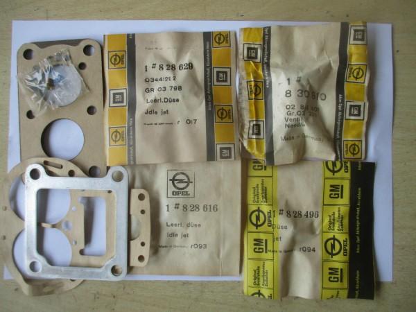 Opel Reparatursatz Düsen Solex 32/32 Vergaser 1608077 Original NEU