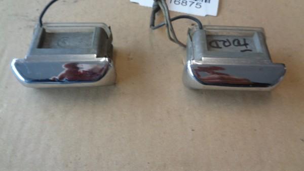 Ford Capri Taunus Granada Kennzeichenleuchte Nummernschildleuchte Chrom SET