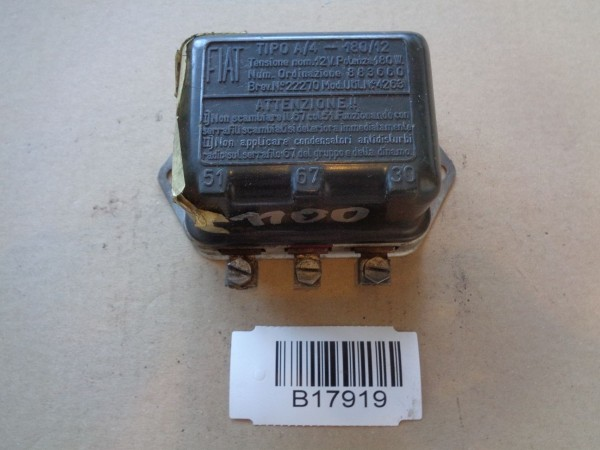 Fiat 1100 1200 1300 Regler Generator Voltage regulator Lichtmaschinenregler 12V