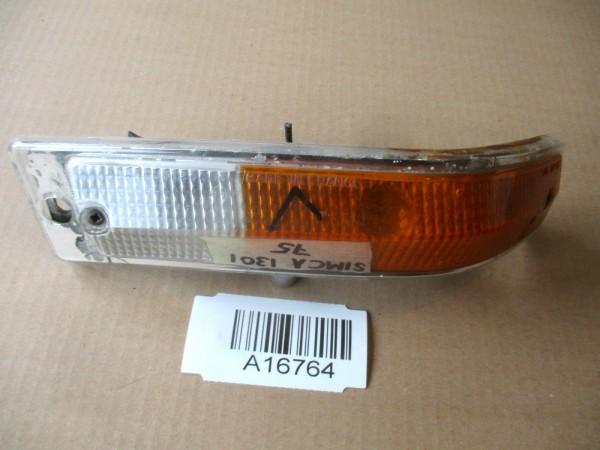 Simca 1301 1501 Blinker Blinklicht Links Vorne Glas Gehäuse