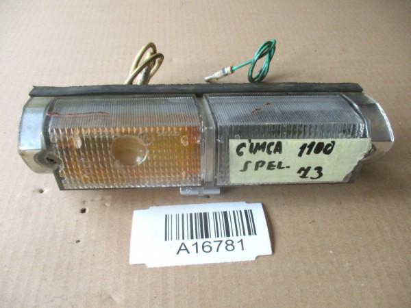 Simca 1100 Blinker Blinklicht Vorne Glas Gehäuse