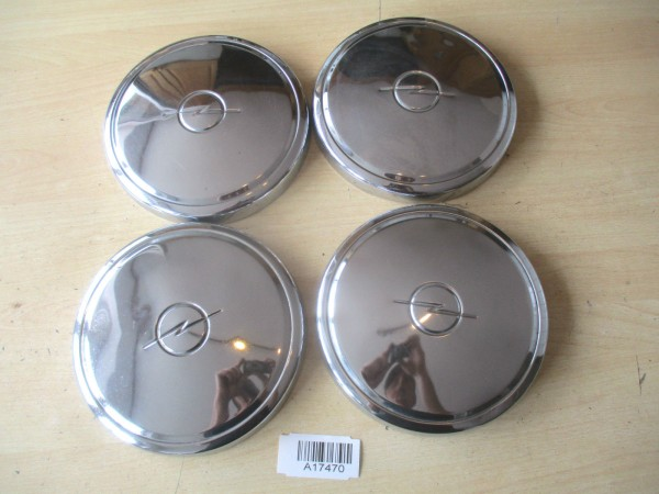 Opel Kadett B C Rekord D Manta A B Chrom Radkappen Radblenden Set