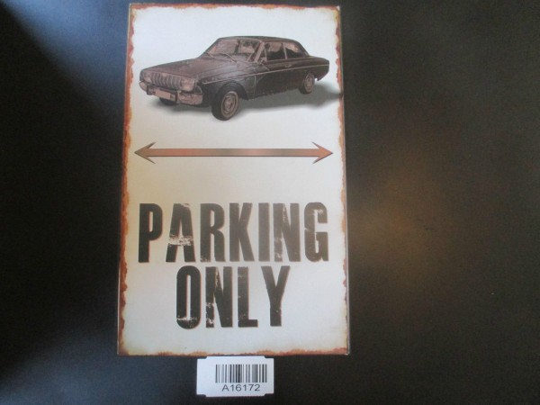 "Ford Taunus P5 17M 20M Parkschild Parkplatzschild Schild ""PARKING ONLY"" 40x25cm"