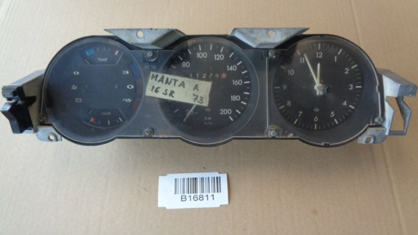 Opel Manta A Ascona Tachometer Kombiinstrument Tacho Armaturen 200km/h W=743